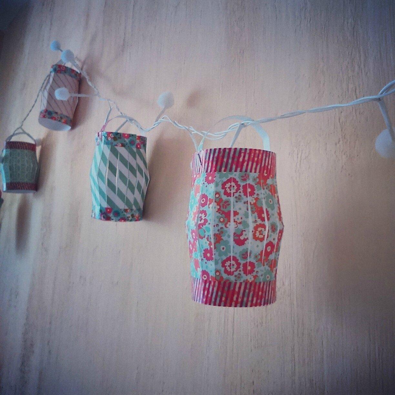 guirlande de lanternes en papier