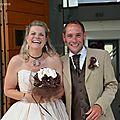 bouquet mariage original ivoire chocolat Isabelle