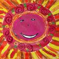 Migline Soleil techniques mixtes enfant