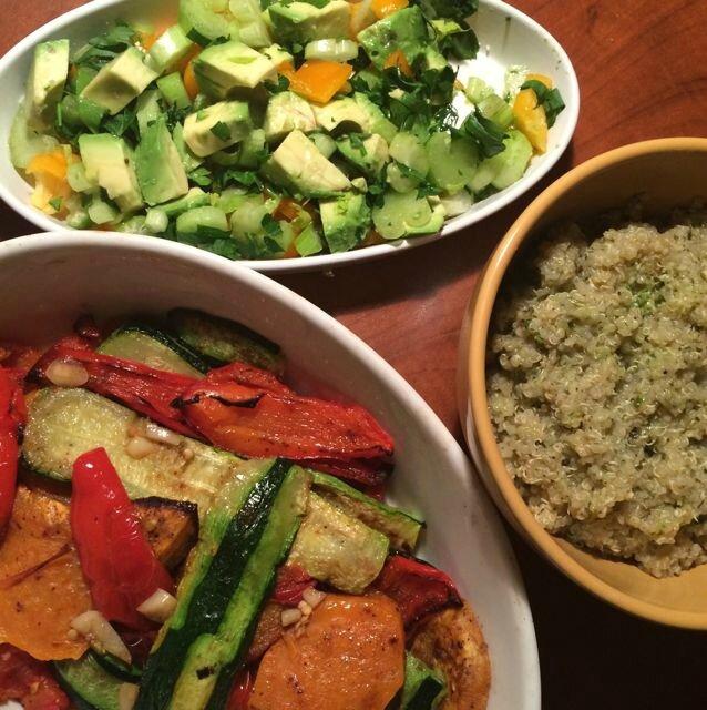 lègumes grillés+salade