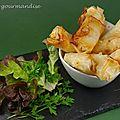 Croustillants de poire au fromage