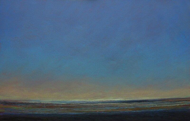 horizon elevation 67 Il fait beau aujourd'hui ! Ah vous trouvez , pastel à l'huile, 48 x 32 cm, juin 2016