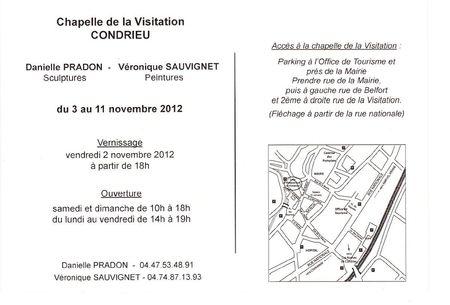 EXPOSITION - CHAPELLE DE LA VISITATION à CONDRIEU (RHONE)