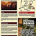 Programmation festival ponso 2014