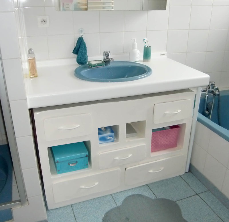 Meuble sous lavabo photo de etageres rangements so for Meuble sous lavabo