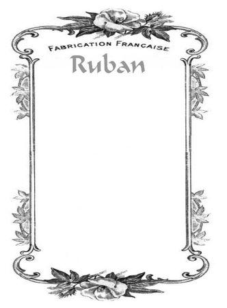 cartonnette ruban
