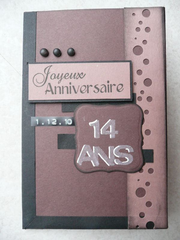 Top carte anniversaire - le scrap de chris PO81