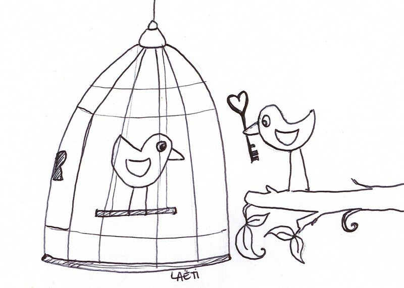 Rock and roll laetibricole - Dessin oiseau en cage ...