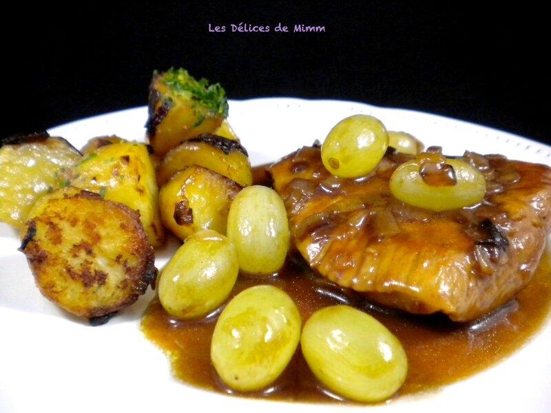 Sauté de dinde aux raisins et au sirop de Liège 2