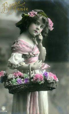 enfant panier bouquet
