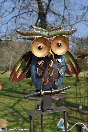 Hibou-sculpture