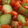 CONFITURE RHUBARBE-TOMATE-GINGEMBRE-VANILLE  se damner !