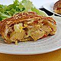 Feuilletée de poulet au curry (strudel)