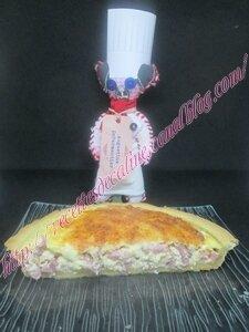 Tarte aux lardons et sa fondue d'oignons41