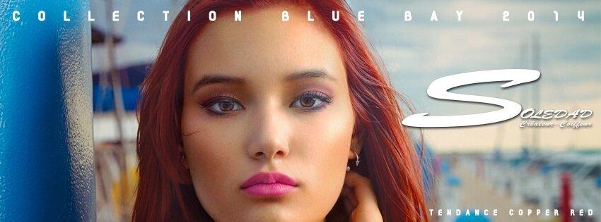 Soledad createur coiffeur collection blue bay 2014 - Coloration roux cuivre ...