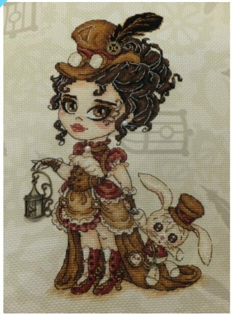 20170105 - Annabelle Lee la Miss Steampunk - Chibi Stitches Design