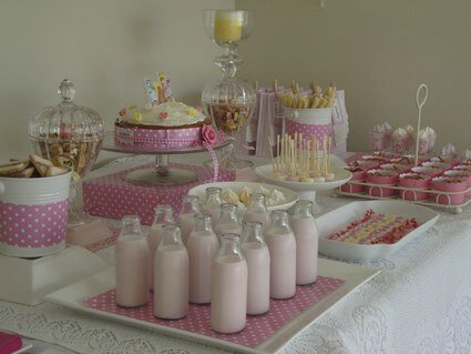 SWEET TABLE OU DECORATIONS DE TABLE GOURMANDE THEME PRINCESSE