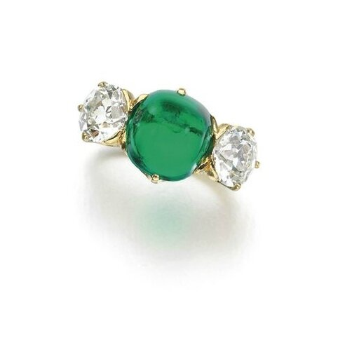 Emerald and diamond ring, Tiffany & Co., early 20th century