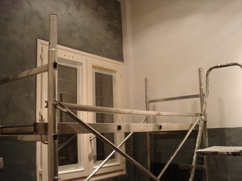 plafond effet béton