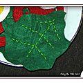 Dinette en feutrine... les feuilles de salade