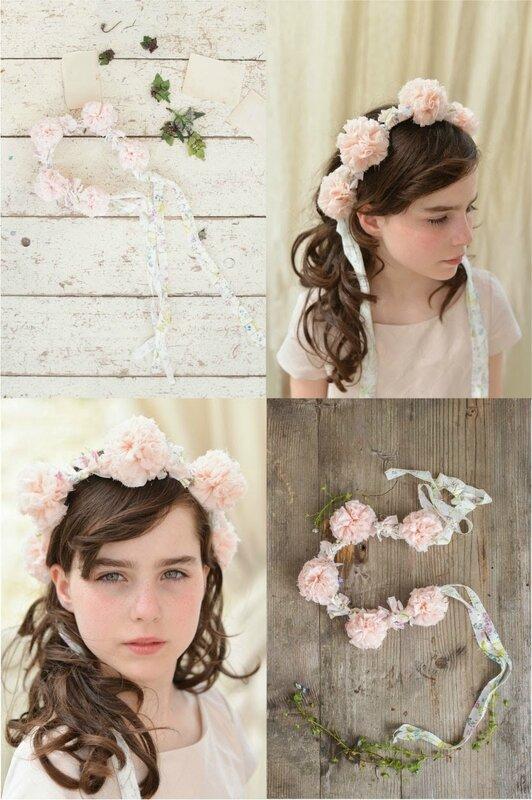 couronne fairy Rose poudré