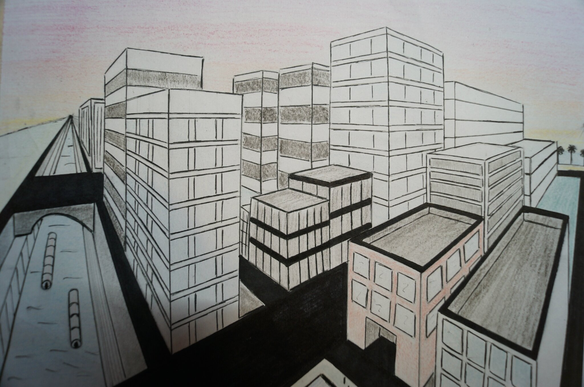 Perspective Point De Fuite Meuble : Dessiner une ville avec deux points de fuite tiger princess