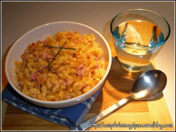 risotto coquillettes jambon