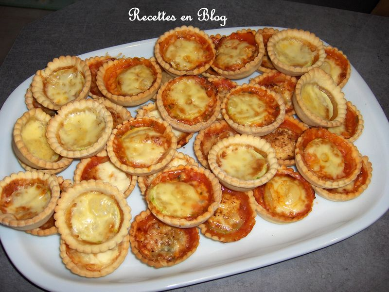 mini tartelettes salees tomates courgettes jambon fromage recettes en blog. Black Bedroom Furniture Sets. Home Design Ideas