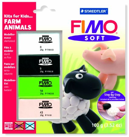 lot animaux ferme Fimo