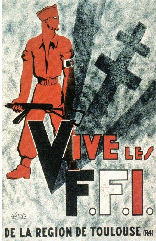 Affiche de propagande 101st ab for La resistance interieur