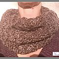Snood-marron-melange