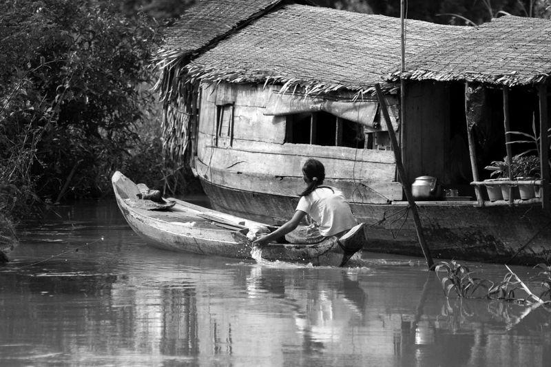 Girl in her boat