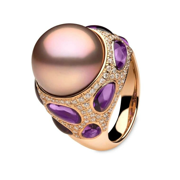 YOKO London Calypso collection rose gold ring