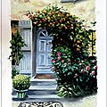 french_house_and_garden_oil_color_painting_peinture_a_huile_mais