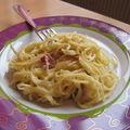 * gratin de spaghettis aux fromages *