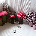 Mes petits champignons disponibles chez sandra artige, artisan fleuriste à herblay