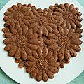 Coeur amande chocolat coco aux flakes complets et au psyllium (sans sucre ni oeufs ni beurre)