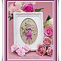 Bouquet Romantique Ovale Broderie Rubans et perles 9x13-13,5x18,5cm (4)