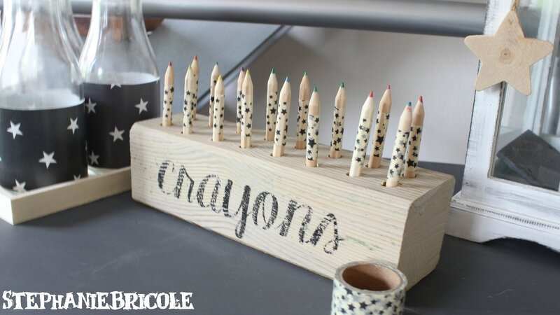 diy facile r cup pour ranger les crayons et feutres. Black Bedroom Furniture Sets. Home Design Ideas