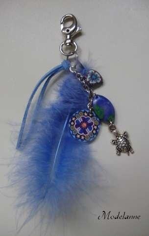 bijoux de sac bleu 201