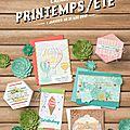 Nouveau catalogue printemps/eté 2017 . . .