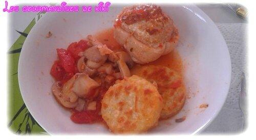 paupiette de porc à la tomate