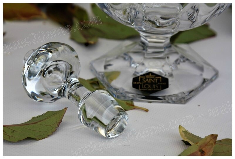 Service cristal St Louis modèle Saint-Cloud, St Louis crystal