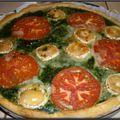 Tarte aux épinards, tomates et chèvre