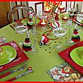 table de Noël rouge et anis 35