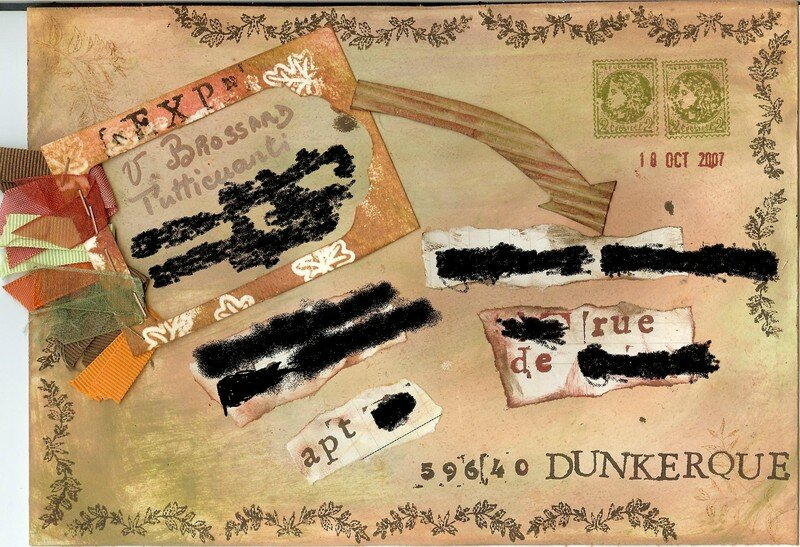 Mail art automnal - Enveloppe 1/2