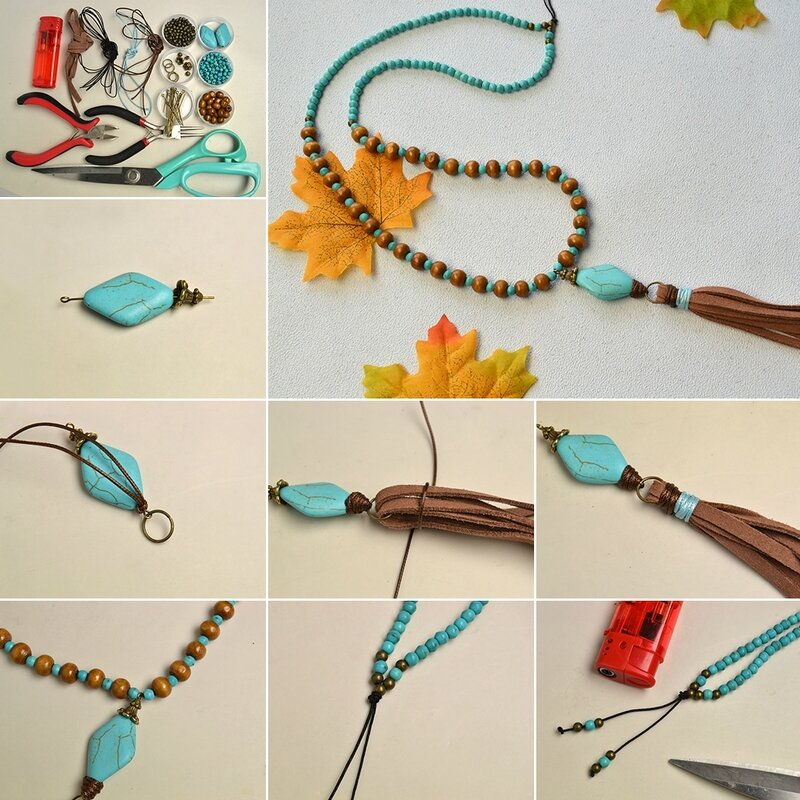1080-How-to-Make-a-Boho-Style-Tassel-Necklace-with-Turquoise-Beads-and-Wood-Beads