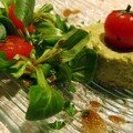 Mousse de brocolis sur son petit rond d'omelette