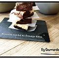 Brownies marbré au fromage blanc, banane et spéculoos ( 173 cal/ la part)