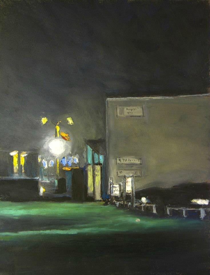 K'nowhere #2, pastel à l'huile sur papier, 24 x 32 cm